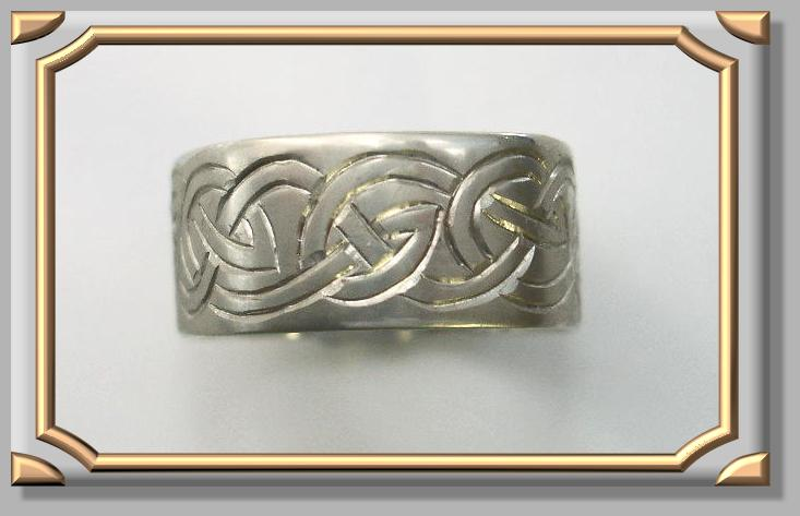 Sample of Celtic Hand Engraved Ring
