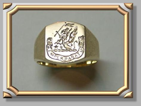 Sample of Family Crest Hand Engraved Ring