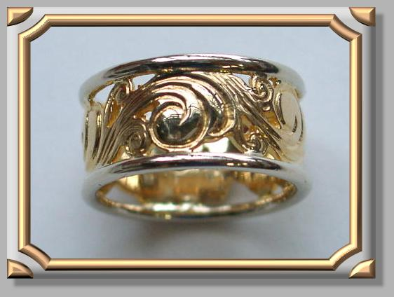Sample of Scroll Hand Engraved Ring