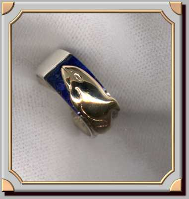 Killer Whale Lapis Ring